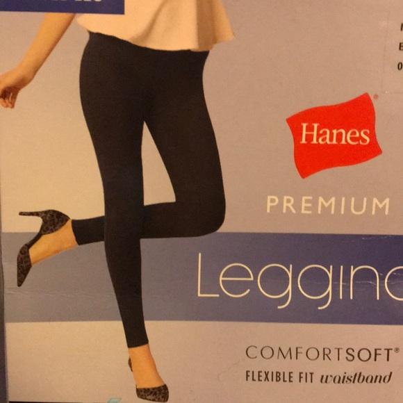 db77952357600 Hanes Pants | New Black Leggings Xtemp Premium Fitted Leg | Poshmark